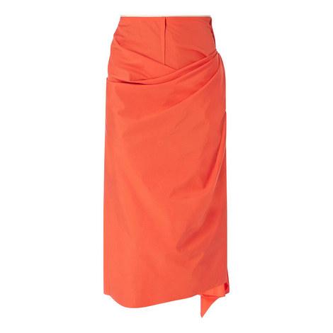 Draped Asymmetrical Skirt, ${color}