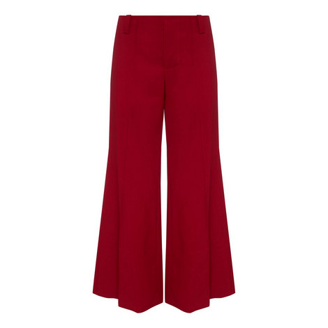Wool Wide Fit Trousers, ${color}