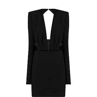 Belted Tuxedo Mini Dress