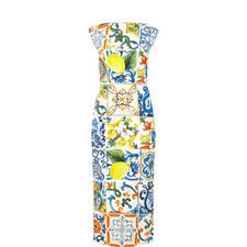 Sicilian Print Dress