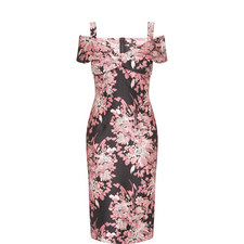 Floral Jacquard Pencil Dress