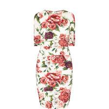Peony Rose Pencil Dress