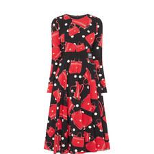 Printed Charmeuse Dress