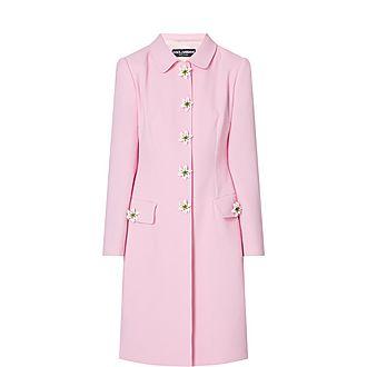 Floral Button Coat