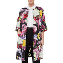 Floral Jacquard Coat, ${color}