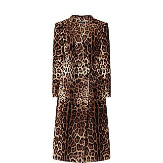 Velvet Leopard Print Coat