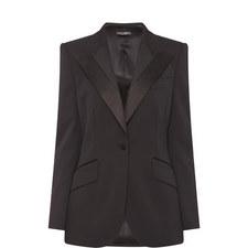 Satin Trim Suit Jacket