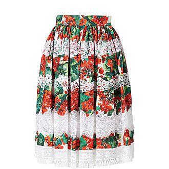 Geranium Lace Skirt