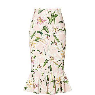 Lily Print Skirt