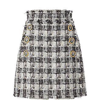 Check Tweed Mini Skirt