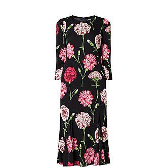 Carnation Silk Dress