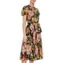 Short Sleeve Chiffon Dress, ${color}