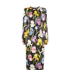 Iris Floral Silk Dress