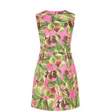 Printed Brocade Dress