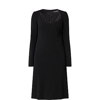 Cady Long-Sleeved Midi Dress