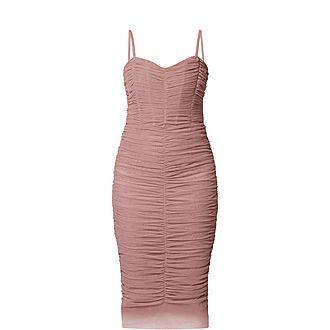 Ruche Midi Dress