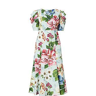 Puff Sleeve Midi Dress