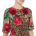 Floral Leopard Print Dress, ${color}