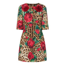 Floral Leopard Print Dress