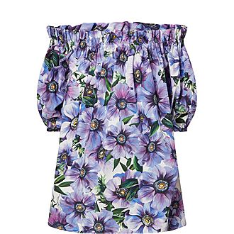 Puff Sleeve Floral Blouse