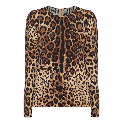 Leopard Print Blouse, ${color}
