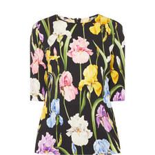 Iris Floral Top