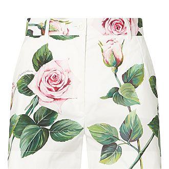 Rose Print Shorts