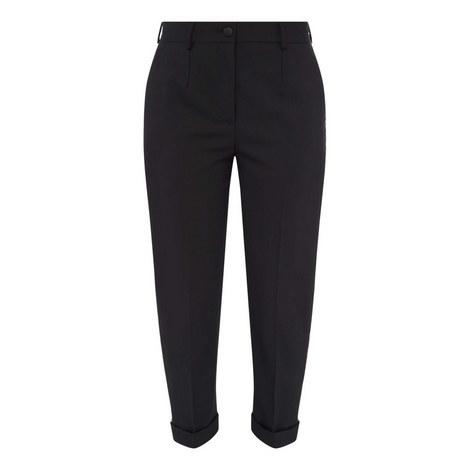 Metallic Trim Trousers, ${color}