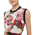 Floral Sleeveless Top, ${color}