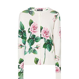 Rose Print Cardigan