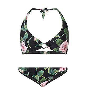 Rose Print Bikini
