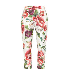 Peony Print Trousers