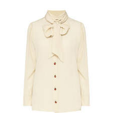 Silk Bow Shirt