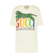 Cities Tiger Appliqué T-Shirt