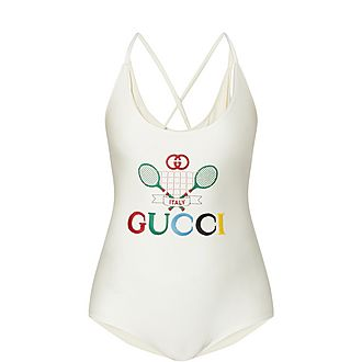 Tennis Logo Swimsuit