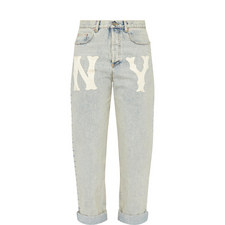 NY Yankees Mom Jeans