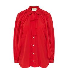 Silk Bow Shirt