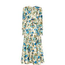 Rose Print Twill Dress