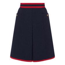 Contrast Trim Midi Skirt
