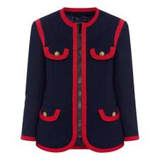 Vintage Trim Tweed Jacket