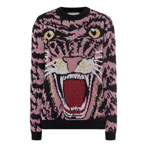 Lurex Knitted Tiger Sweater, ${color}