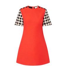 Checked Sleeve Dress