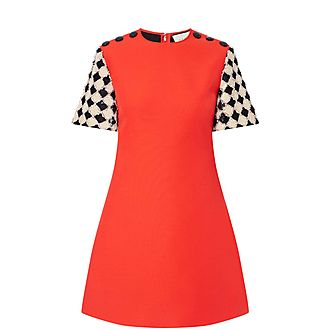 Checked Sleeve Dress