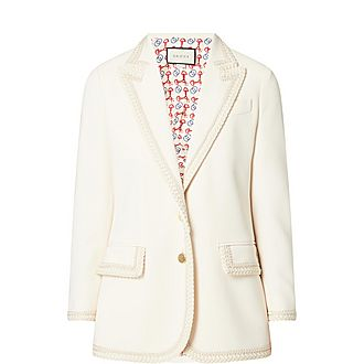 Embroidered Cady Jacket