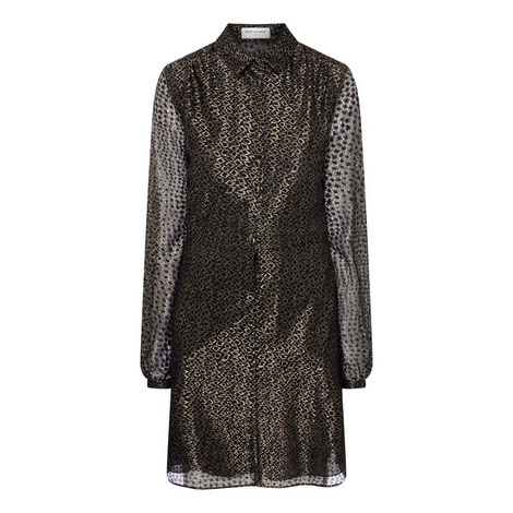 Net Shirt Dress, ${color}