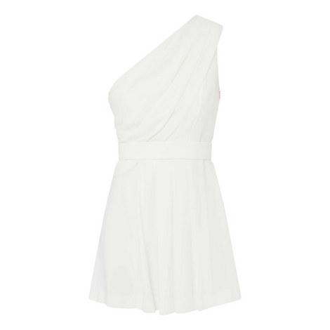 One Shoulder Mini Dress, ${color}
