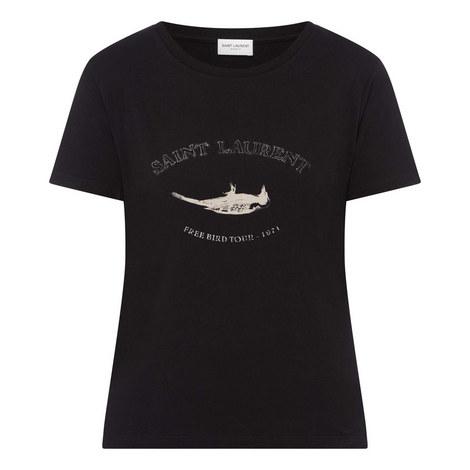 Bird Logo Print T-Shirt, ${color}