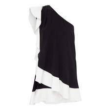 Asymmetric Ruffle Dress