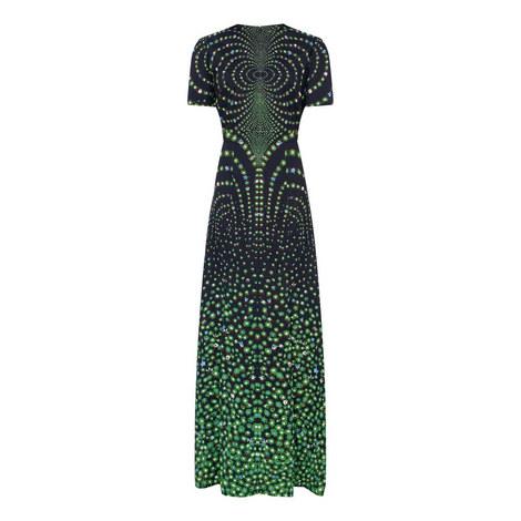 Graphic Floral Evening Dress, ${color}