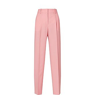 Wool Straight Trousers